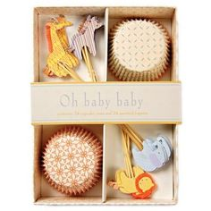 Oh Baby Baby Cupcake Kit  adorable for Baby Showers!  I love love love MeriMeri's cupcake kits.. I use them all the time!