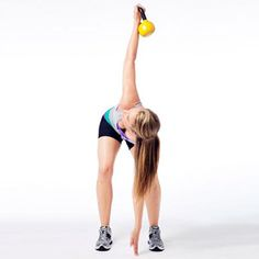Touch Down. One of the many kettlebell workouts to add to your gym routine. Awesome for legs, butt, and abs.