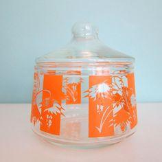 Vintage Glass Sugar Bowl Candy Dish by RetroGirlRedux on Etsy, $10.00 So PRETTY