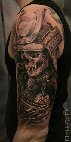 Holy shit! that is one wickedly powerful tattoo! The Artistry and Black to grey! OMG the detail is awesome!