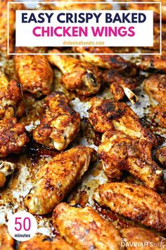 An easy, simple keto dinner recipe for Oven-Fried Crispy Baked Chicken Wings. Using a special tip, you get the taste of fried chicken without deep frying. Besides keto & low-carb, this chicken wing recipe is perfect for those looking to have chicken wings Easy Chicken Dinner Recipes, Baked Chicken Recipes, Roast Recipes, Turkey Recipes, Cabbage Recipes, Spinach Recipes, Pizza Recipes, Bread Recipes, Crockpot Recipes