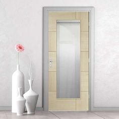 Pre-finished Ravenna Oak Door - Clear Glass - Choose Your Colour - Lifestyle Image.    #interiordoor