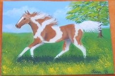 2013, Pinto/Paint Horse 1, ACEO Art Card, ebay@packrat-2013