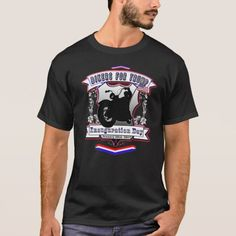 Bikers for Trump Red White Blue Inauguration Day Unique T-Shirt. INAUGURATION DAY January 20th, 2017. http://www.zazzle.com/bikers_for_trump_red_white_blue_inauguration_day_t_shirt-235891156067467271