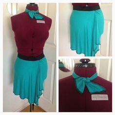 Knit jersey skirt w/ tie