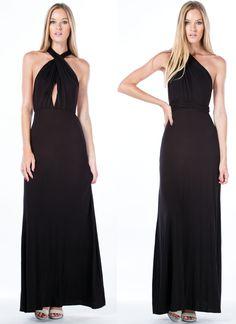 Chic-Shifter Convertible Maxi Dress BLACK MUSTARD BURGUNDY BLUSH WHITE - GoJane.com