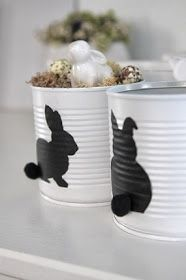 🌟Tante S!fr@ loves this📌🌟 Hoppy Easter, Easter Bunny, Easter Eggs, Tin Can Crafts, Diy And Crafts, Crafts For Kids, Tin Can Art, Diy Ostern, Easter Celebration