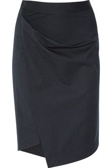 Vivienne Westwood Anglomania  New Accident folded stretch-cotton skirt  $275