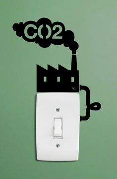 Adesivo de parede ecológico. Será que assim fica mais fácil de poupar energia?