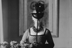 """Mark Shaw - Dior, St. Laurent's Mask with """"Lola"""" Dress 