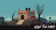 after the nukes Pix Art, Pixel Art Games, Pretty Drawings, Animation Reference, Laptop Wallpaper, Environment Design, Indie Games, Art World, Game Design