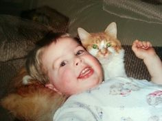 Jared and Clyde have been together since they were both just babies! Jared's mom, Terri shared this photo of baby Jared and kitten Clyde with BuzzFeed: | Watch This Tearful Reunion Between A 10-Year-Old Boy And His Missing Cat