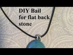 DIY Wire Bail for Pendant #3 - YouTube Diy Jewelry Videos, Wire Wrapping, Pendant Necklace, Youtube, Youtubers, Drop Necklace, Youtube Movies