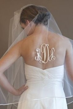 Monogrammed Wedding Veil - do you have two? One for the ceremony and one after? Or just an after?