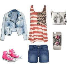 """""""Forth of July Outfit"""" by leahstyles2002 on Polyvore"""