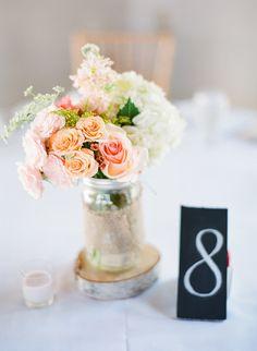 #centerpiece  Photography: Laura Ivanova Photography - lauraivanova.com  Read More: http://www.stylemepretty.com/2014/03/14/pastel-wedding-at-the-old-field-club/