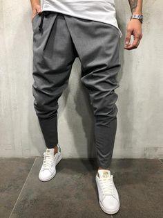 Love My Fashions/® Mens Trousers Drawstring Elasticated Cuff Jogging Fleece Bottoms Zip Pockets Close Hem Casual Outwear Sweatpants Size S L 2XL 5XL