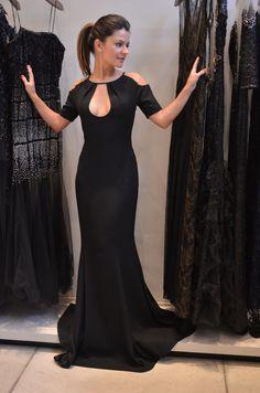 Resultado de imagem para vestidos longo com transparencia preto