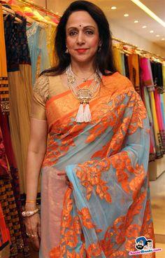 neeta lulla wedding sarees. Love the collection of sarees hema malini carries.
