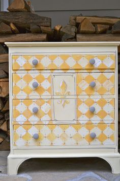 Small Chest of Drawers Hand Painted with Cream by meredithmbrooks, $325.00