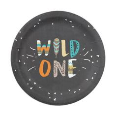 Wild One Tribal First birthday Paper Plates Boho - birthday gifts party celebration custom gift ideas diy