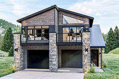 Modern Mountain Home, Small Modern Home, Modern Style Homes, Modern Small House Design, Small Modern House Exterior, Garage Apartment Plans, Garage Apartments, Garage Plans, Best House Plans