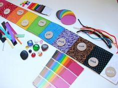 Sensory Color Sorting Playset. This website has ideas for beautiful handmade learning toys for babies and toddlers. DIY ideas!