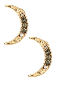 Moon stud earrings for starry nights out.