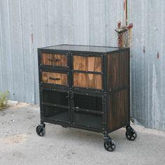 Modern Industrial Salon Workstation / #furniture