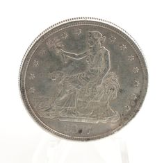 1877 Silver Trade Dollar .900 Fine XF with Chopmarks by TBGoods, $199.99