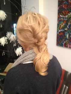 Soft  reverse French pleat     Neville Humpage@ Harpers & Co Hair