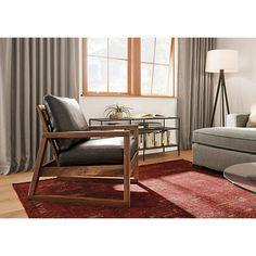 Slim Media Console in Natural Steel - Modern Media Storage - Modern Living Room…