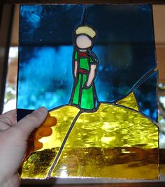 the little prince stained glass by Russquatch