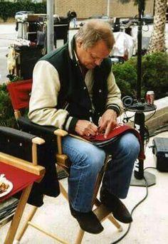 Hutch David Soul on set of remake 2004 Cops Tv Show, Paul Michael Glaser, David Soul, Starsky & Hutch, On Set, Movie Tv, Tv Shows, Memories, My Love