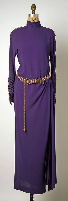 Evening Dress, House of Chanel, Designer Karl Lagerfeld, F/W 1988-89, French, silk and metal