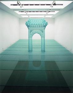 DO HO SUH Reflection, 2004 nylon and stainless steel tube dimensions variable Edition of 2 LM8478