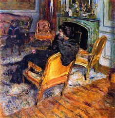 The Gilded Chair, Madame George Feydeau and Her Son / Edouard Vuillard - 1906