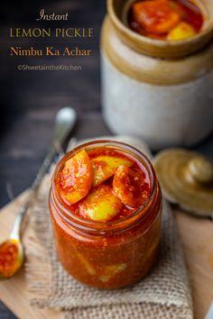 Instant Lemon Pickle also known as Nimbu ka Achar is a quick and easy way of making the traditional sweet, spicy and tangy Indian condiment. Now no more waiting! Lemon Pickle Recipe, Indian Pickle Recipe, Lime Pickles, Best Pickles, Lemon Recipes, Jam Recipes, Sweets Recipes, Snack Recipes, Recipes