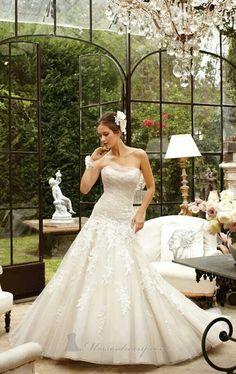 Garden theme wedding dress