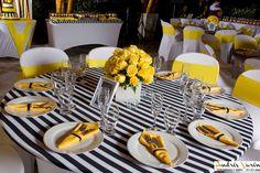 Amarillo Negro Decoración Fiesta Cali Colombia Victoria Bodas y Eventos  301 4258981