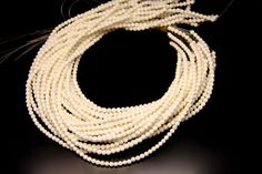 1strand  natural white shell plain ball sized 8mm by 3yes on Etsy