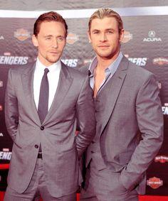 Hiddleston, Hemsworth - Gosh they look so good !