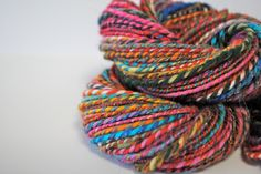 Nirvana - Hand Spun Yarn by CasualFashionQueen on Etsy