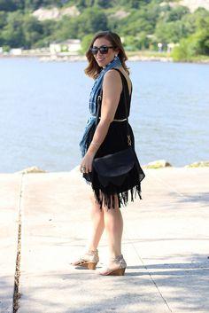 Black & Blue Outfit #dress #fashion