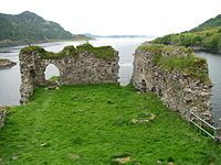 Clan MacDonell of Glengarry - Ruins of Strome Castle, the original seat of the chiefs of the Clan MacDonell of Glengarry until 1602.