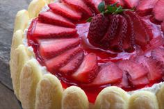 """Strawberry Torte - """"Elegant, impressive-looking and a breeze to make!"""" -Deb Wolfe"""