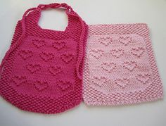 This pattern includes directions for both a bib and a cloth. The pdf also includes a chart.