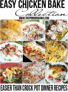 Just as easy to prepare as crock pot recipe, easy chicken bake recipes are my new favorite week night dinner! Pizza chicken bake is super. Italian Chicken Casserole, Italian Baked Chicken, Baked Ranch Chicken, Oven Chicken, Greek Chicken, Boneless Chicken, Keto Chicken, Rotisserie Chicken, Easy Fajita Chicken Bake Recipe