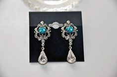 Bridal Filigree EarringsSwarovski Crystal by cynthiacouture