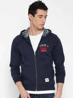 Buy Flying Machine Navy Hooded Sweatshirt - Sweatshirts for Men Sweatshirts Online, Hooded Sweatshirts, Winter Wear For Men, Hooded Jacket, Navy, Sweaters, How To Wear, T Shirt, Jackets
